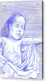 Acrylic Print featuring the drawing Hush Little Baby by Jean Haynes