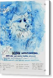 Huskies Team And Mascot-armory 2005 Acrylic Print by Elle Smith Fagan