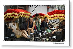 Acrylic Print featuring the photograph Hutong Tour Driveres by R Thomas Berner