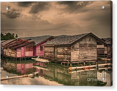 Acrylic Print featuring the photograph Huts In South Sulawesi by Charuhas Images
