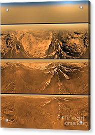 Huygen Probes View Of Titan Acrylic Print