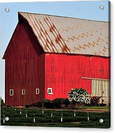 Hwy 47 Red Barn 21x21 Acrylic Print