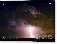 Hwy 52 - 08-15-2010 Lightning Storm Image 42 Acrylic Print