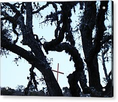 Hwy 87 Cross Two Acrylic Print by Ana Villaronga