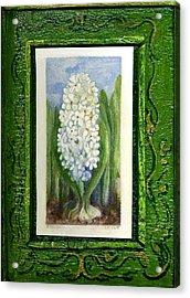 Hyacinth Acrylic Print by Elle Smith Fagan