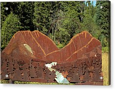 Hyalite Canyon Sculpture Acrylic Print