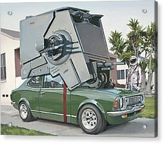 Acrylic Print featuring the painting Hybrid Vehicle by Scott Listfield