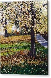 Hyde Park London Acrylic Print by Sharon  De Vore