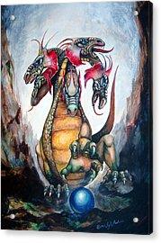 Hydra Acrylic Print by Leyla Munteanu