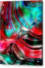 Hydrangea Abstract2 Acrylic Print by Linnea Tober