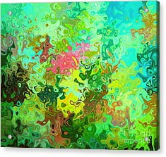 Abstract Water Flowers Acrylic Print by ARTography by Pamela Smale Williams