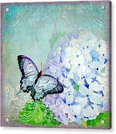 Hydrangea Dreams Acrylic Print by Audrey Jeanne Roberts