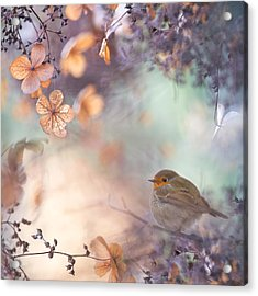 Hydrangea Fantasy Acrylic Print by Teuni