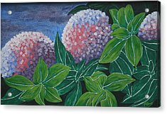 Acrylic Print featuring the painting Hydrangea by Paul Amaranto