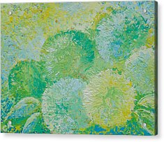Acrylic Print featuring the painting Hydrangea Sunrise by Chris Rice