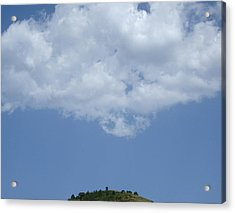 Hyperion - Lonely Cloud On Blue Sky Acrylic Print