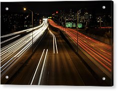 I-5 At Night 2 Acrylic Print by Pelo Blanco Photo