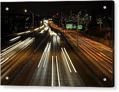I-5 At Night Acrylic Print by Pelo Blanco Photo