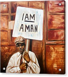 Acrylic Print featuring the painting I Am A Man by Emery Franklin