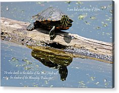 I Am But A Reflection Acrylic Print