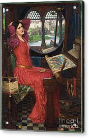 Acrylic Print featuring the painting I Am Half-sick Of Shadows, Said The Lady Of Shalott by John William Waterhouse