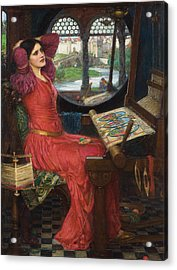 I Am Half Sick Of Shadows Said The Lady Of Shalott Acrylic Print by John William Waterhouse