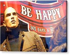 I Am Not Happy Acrylic Print by Jez C Self