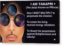 I Am Takapri Acrylic Print