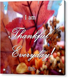I Am Thankful # 6059 Acrylic Print