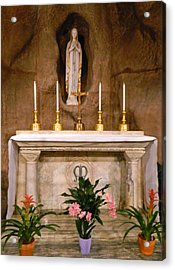 I Am The Immaculate Conception - Tiny Chapel On Crypt Level Acrylic Print