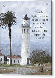 I Am The Light Of The World Acrylic Print