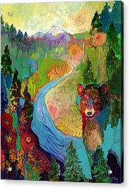 I Am The Mountain Stream Acrylic Print by Jennifer Lommers