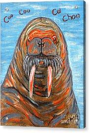 I Am The Walrus Acrylic Print by Jeanne Forsythe
