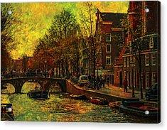 I Amsterdam. Vintage Amsterdam In Golden Light Acrylic Print