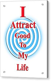 I Attract Red White Blue Acrylic Print
