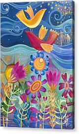 Acrylic Print featuring the painting I Believe I Can Fly by Carla Bank