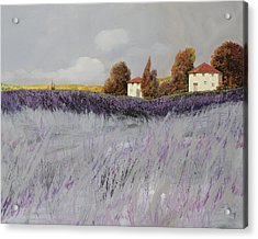 I Campi Di Lavanda Acrylic Print