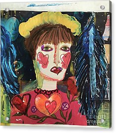 Acrylic Print featuring the painting I Carry Your Heart In My Heart by Kim Nelson