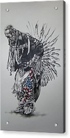 I Close My Eyes And Hear The Songs Of My Ancestors Acrylic Print by Michael Lee Summers