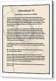 I Corinthians 13 Paraphrase Acrylic Print