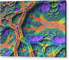 Acrylic Print featuring the digital art I Don't Do Drugs, Just Fractals by Lyle Hatch
