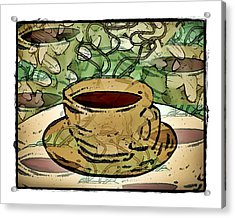 I Dream Of Coffee Acrylic Print by Terry Mulligan