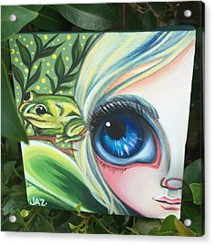 I Finished The Little Frog Fairy. I Acrylic Print