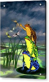 I Get Flies With A Little Help From My Friends Acrylic Print