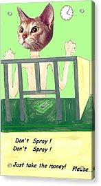 I Give Up Acrylic Print by Bethwyn Mills