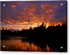 I Have Seen Rain And I Have Seen Fire Acrylic Print by Larry Ricker