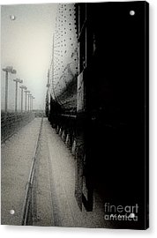 Acrylic Print featuring the drawing I Hear That Lonesome Whistle Blow by RC deWinter