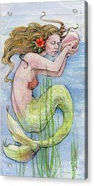 Mermaid Acrylic Print by Lora Serra
