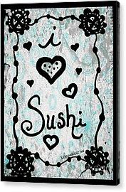 I Heart Sushi Acrylic Print
