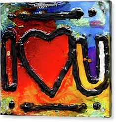 I Heart You Acrylic Print by Genevieve Esson